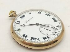 Antique Vintage Open Face Longines Pocketwatch 1915; Working, Precision Untested
