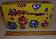 RARE Walt Disney empty children's shoe box for Happy gold seal Sneakers - exc
