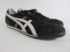 Asics Revolve HN875 Athletic Sports Trainers Black/White/Purple Womens Size 11 M