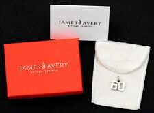 """James Avery Sterling Silver Rare """"60"""" Years Old # Charm w/ Pouch & Box"""