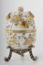 Big Bee  Egg LIMITED EDITION Trinket Box by Keren Kopal Swarovski Crystal
