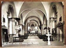 La Verna (mt.1128) - interno della Basilica [grande, b/n, viaggiata]