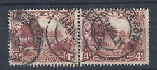 SOUTH AFRICA, KGV 1927,  4d  PAIR, SG 35c, GOOD USED, CAT £ 70