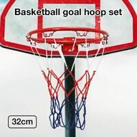 Wall Mounted Basketball Hoop Rim Net For Indoor Outdoor Basketball 32CM