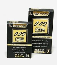 OKAMOTO 0.02 HYDRO Polyurethane Ultimate Thinness Lubricated Condom Pack I_g