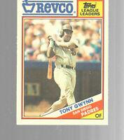 1988 Tony Gwynn San Diego Padres Topps Revco League Leaders #1 Baseball Card