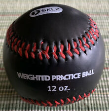 Sklz 12 oz Weighted Strength Training Ball Pitcher Pitching Baseball Black Euc