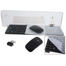Cordless MINI Keyboard & Ultrathin Mouse for Polaroid 40 Full HD LED TV BK Sx