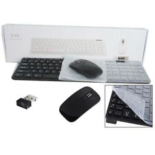 "Cordless Keyboard & Mouse for Hitachi 24HXT15U 24""HD Ready Smart TV BK HK"