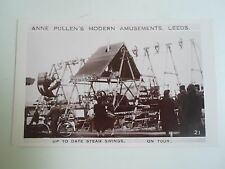 Rare RPPC Anne Pullen's Modern Amusements Leeds Up To Date Steam Swings  §D94