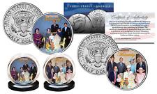 BRITISH MONARCHY THEN & NOW Diana Queen Elizabeth JFK Half Dollar U.S 2-Coin Set