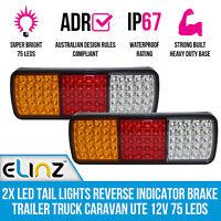 2x LED Trailer Light Reverse Indicator Brake Tail Lights Truck Caravan UTE 12V