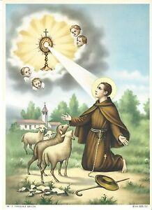 """Catholic Print Picture ST. PASCHAL BAYLON Pasquale 7 1/2x10"""" ready to be framed"""