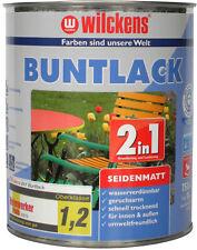Buntlack 2in1 Grundierung + Lack Schutzlack Acryllack Seidenmatt Farbwahl 750ml