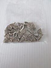 25pcs fancy bail hangers antique silver craft findings jewellery making UK