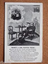 R&L Postcard: Living Picture 1905, Bachelor Gentleman, Antique Furniture/Wife
