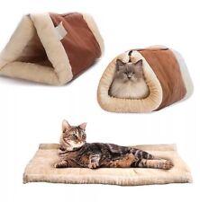 Kitty Shack 2 en 1 calefacción y cama del animal doméstico túnel Auto Mat Gato Perro Portátil Hot & Caliente