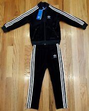 Adidas Kids SuperStar Velvet TrackSuit Black Size 4T THESPOT917