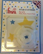 FMM Star Cutters - Set of 4 - cake decorating sugarcraft