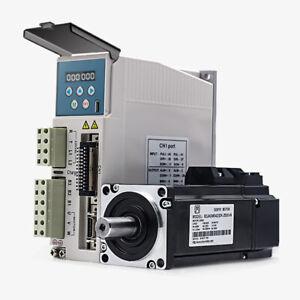 400w 0.4kw 3000rpm 1.27NM 60mm 220V AC Servo Motor drive kit 2500 line JMC CNC