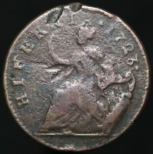 More details for 1723 | ireland half-penny w/counter marks & no dot before hibernia | km coins