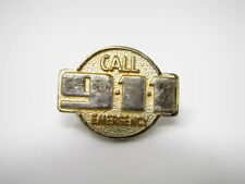 Vintage Collectible Pin: Call 911 Emergency Gold Tone