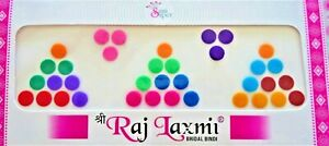 1PACK MULTICOLOR INDIAN  BINDI BOLLYWOOD BELLY DANCE DOTS STIC ON TEMP TATTOO