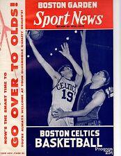 Nov 3, 1956 Boston Celtics Vs New York Knicks Opening Night Game Program