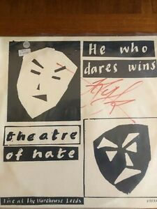 theatre of hate - signed 'he who dares wins'
