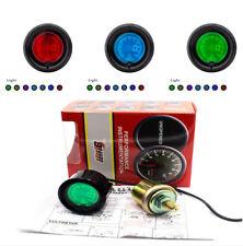 "2""52 mm Digital LED Car Scooter Oil Pressure Meter Gauge Multi Color Universal"