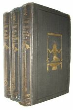WILKINSON Manners Customs of the Ancient Egyptians 1837 Three volumes First Edit