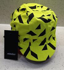 Morvelo MV BASSO Cycling Cap Hat Hi Vis Visability Yellow One Size Road Mtb Bike