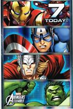 AVENGERS ASSEMBLE AGE 7 TODAY 7TH BIRTHDAY CARD NEW GIFT DISNEY