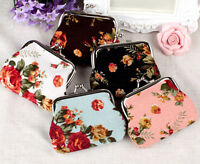 NEW fashion lady women girl small purse coin wallet flower bag Holiday Sales