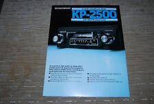 Pioneer KP-2500 Stereo FM AM cassette de Car Stereo Original catalog Catalogue