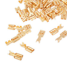 100 PCS 9.5//6.3mm Brass Bullet Connector Terminal Male /& Female with Cover
