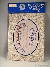 Millie's Shapely Mats Oval Shape w/Cross Stitch Pattern #58006 Sealed