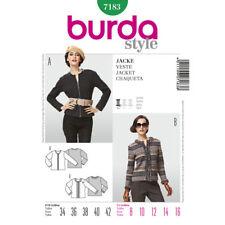 Burda Style EASY SEWING PATTERN 7183 Misses Jacket 8-16