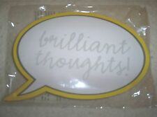 "7"" Wx4.5"" T 150 Sheet Note Pad White w/Yellow Border-w/""Brilliant Thoughts"""