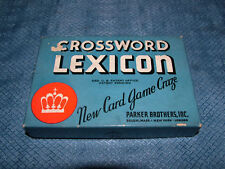 VINTAGE 1937 PARKER BROS CROSSWORD LEXICON CARD GAME