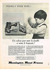 PUBLICITE ADVERTISING   1962   REMINGTON   machine  à écrire