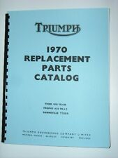 Parts Manual For Triumph 1970 T120 Bonneville TR6c Trophy TR6r Tiger 650cc Twin