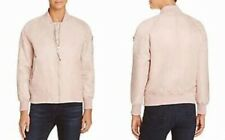 NWT AQUA Brand SIZE L Blush Bomber/Flight Jacket Long Sleeve, Nylon