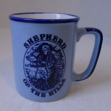 Vintage Shepard of the Hills coffee mug cup blue tourist attraction collectible