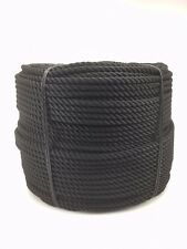 16mm Black Nylon Rope x 50 Metres, Anchor Line Boat Dock Mooring Yacht Warp