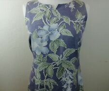 Tommy Bahama Women's  Silk Purple with Floral Design Dress size 8 90717-2 B6
