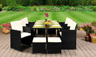 10 Seater Rattan Garden Furniture Set - 6 Chairs 4 Stools & Dining Table