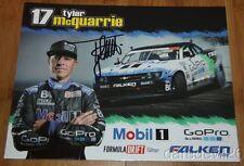 2015 Tyler McQuarrie signed Mobil 1 Chevy Camaro Formula Drift postcard