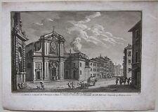 1747 CHIESA CONVENTO SANTI QUARANTA MARTIRI S. PASQUALE Giuseppe Vasi acquaforte