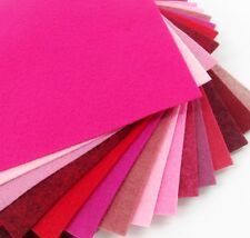 """15 - 9""""X12""""  Pink/Red Colors Collection - Merino Wool blend Felt Sheets"""